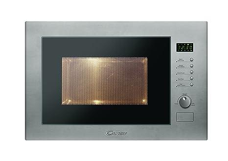 Candy MIC25GDFX - Microondas de encastre con grill, 25 L, 900 W / 1000 W, color gris