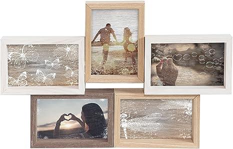 Auße... gallery solutions Bilderrahmen Collage Mixed Colours 4 Fotos à 10x15 cm