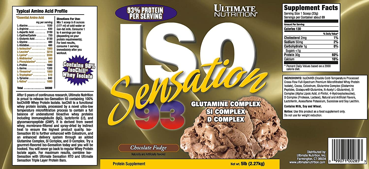 Buy Ultimate Nutrition Iso Sensation 93 5 Lbs Chocolate Fudge Makarimshirt Coklat Susu Online At Low Prices In India