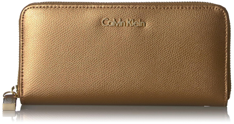 Calvin Klein カルバンクライン 財布 メンズ 長財布 Men's MoNogram Continental Zip Wallet B0732M6T6M Txtrd Khk/Black/Black Saffiano Txtrd Khk/Black/Black Saffiano