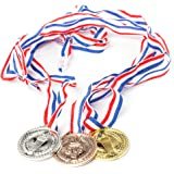 Neliblu Torch award Medals (2 Dozen) - Bulk - Gold, Silver, Bronze Medals - Olympic Style Award Medals - First Second Third Winner - Great for Party Favor Decorations and Awards By