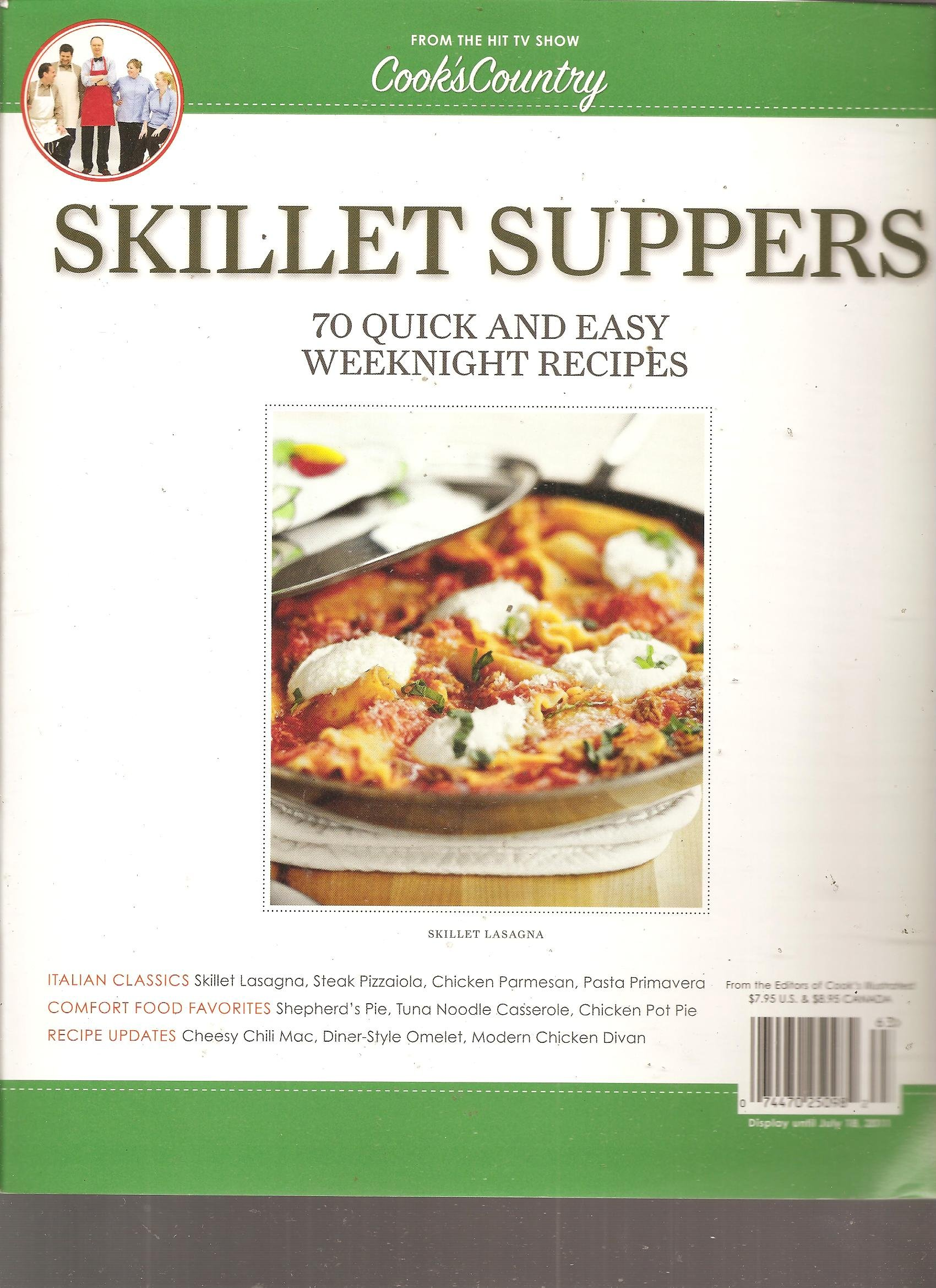 Cook S Country Magazine Skillet Suppers 70 Quick And Easy Weeknight Recipes 2011 Amazon Com Books