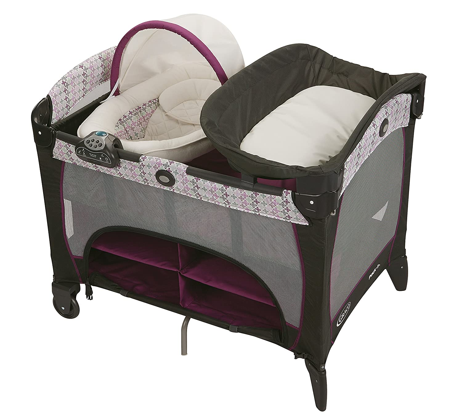 Graco Pack 'N Play Playard with Newborn Napperstation DLX, Nyssa 1893815