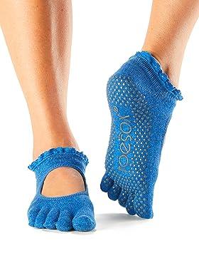 Calcetines de dedos ToeSox Bella para yoga, pilates, baile y artes marciales, Pool