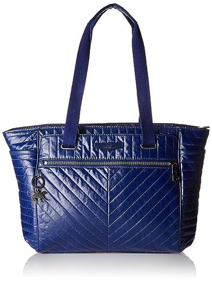 Kipling - Orinthia, Bolsos totes Mujer, Blau (Shiny Blue), 43x27x0.