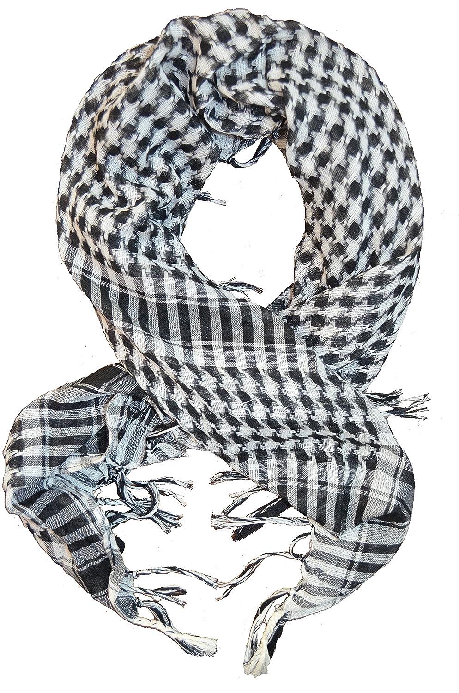 *** PROMOTION *** Foulard Palestinien - Keffieh - Chèche - Pashmina - Noir et Blanc