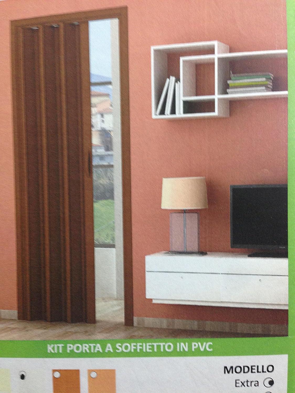 ROLLPLAST Kit de Puerta de Techo de PVC, 82 cm x 224 cm, Color Blanco o marrón