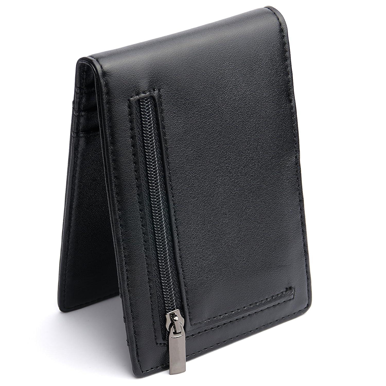 cafc05b9b4a76 Premium Geldbörse mit Geldklammer und Münzfach – RFID NFC Schutz ...