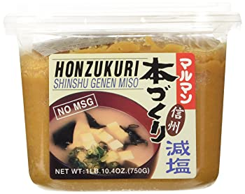 HONZOKURI Acohol-free & Low Salt 26.4 oz White Miso Paste