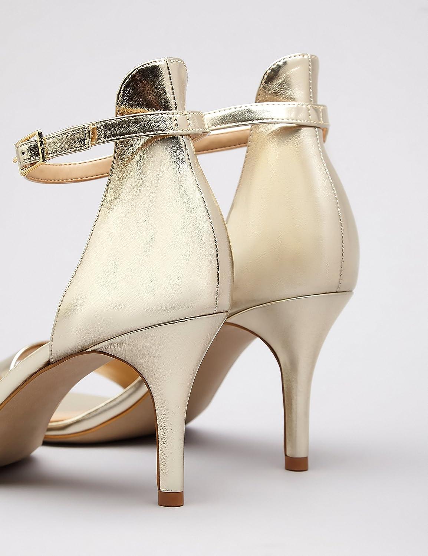FIND Damen Lackleder Highheel-Sandalen mit Lackleder Damen Gold (Gold) e65bfe