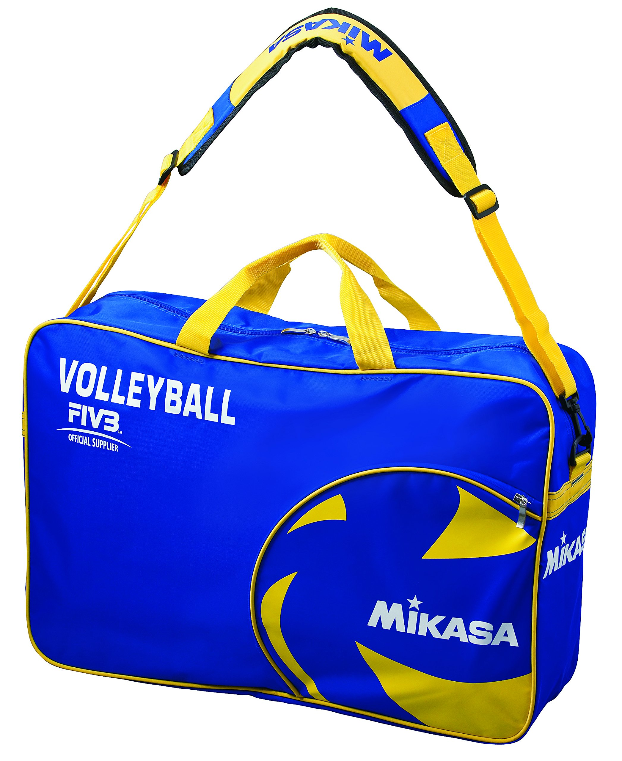 Mikasa Sports Volleyball Carrying Bag by Holds 6 Balls, Blue/Yellow