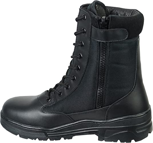 Savage Island Side Zip Army Patrol Tactical Action Combat Boots (9 UK, Black): Amazon.co.uk: Shoes & Bags