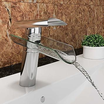 Genial VILSTEIN© Waschtisch Armatur Einhebelmischer Einhand Wasserhahn Mit  Wasserfall Effekt Armatur Für Bad Badezimmer