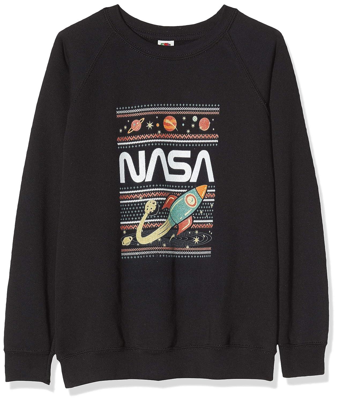 Black Blk Nero Brands In Limited NASA Fair Isle Felpa Bambino 9-10 Anni Taglia Produttore: 9-11Y