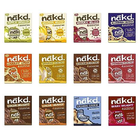 Nakd Fruit & Nut Bars Mixed Case Selection 48 Bars *Vegan, Raw, Wholefood