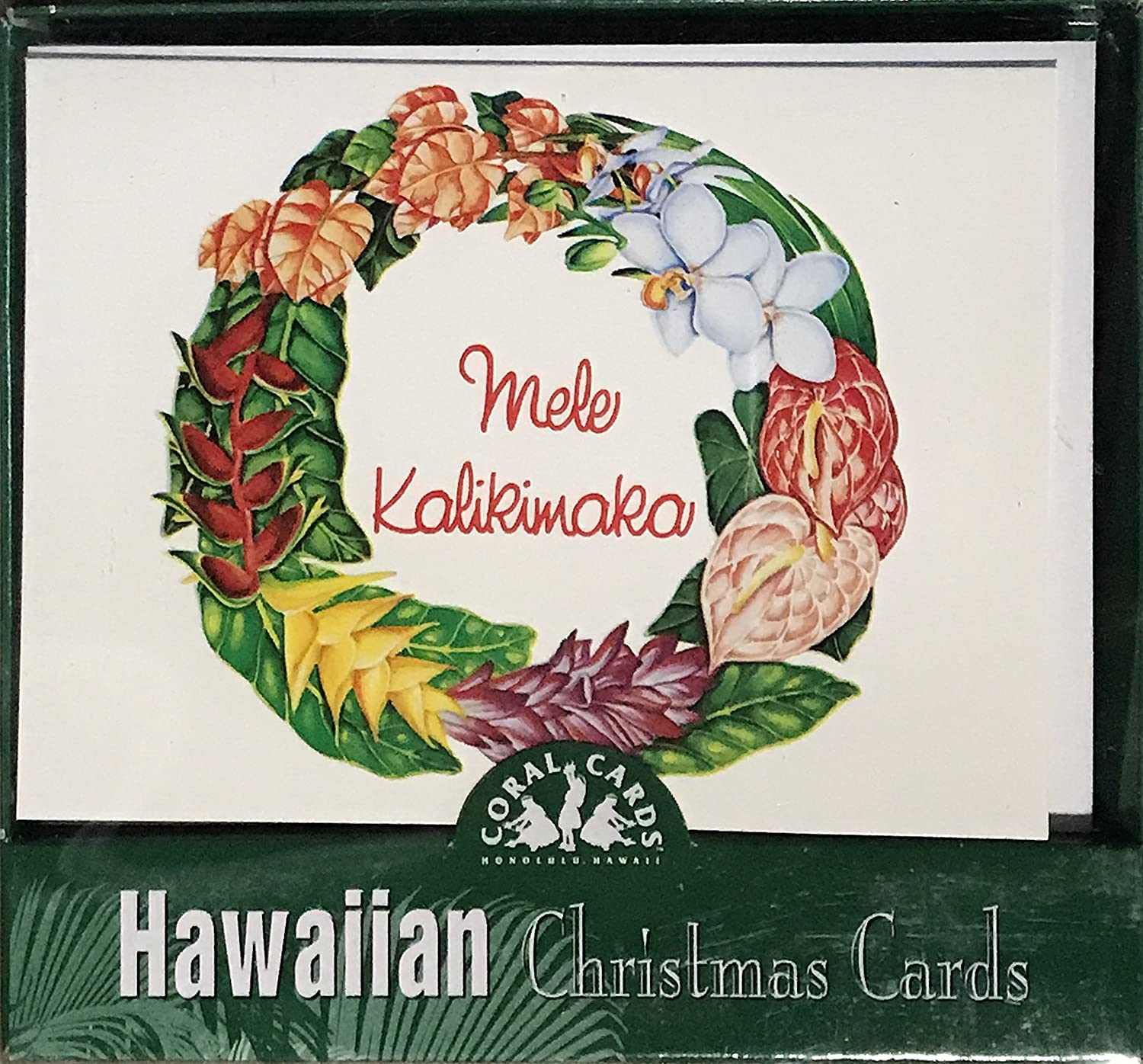 Amazon.com : Hawaiian Holiday Christmas Greeting Cards (Mele ...