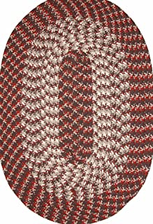 """product image for Constitution Rugs Hometown 20"""" x 30"""" Braided Rug in Chocolate Brown"""