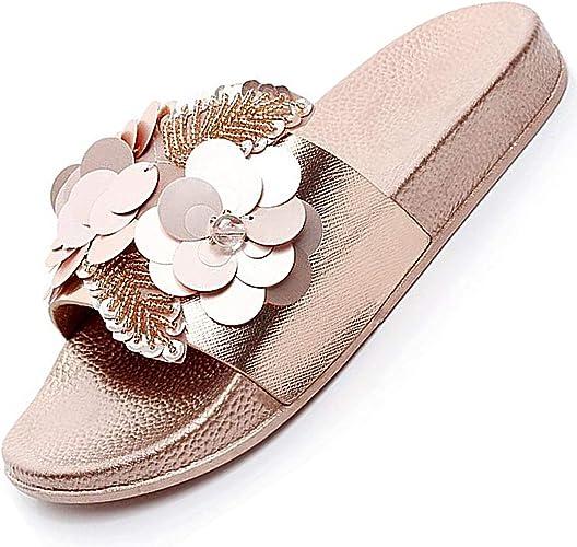 Sandalen Damenschuhe Pantoletten Strass Sommer Strand Schuhe 36-41