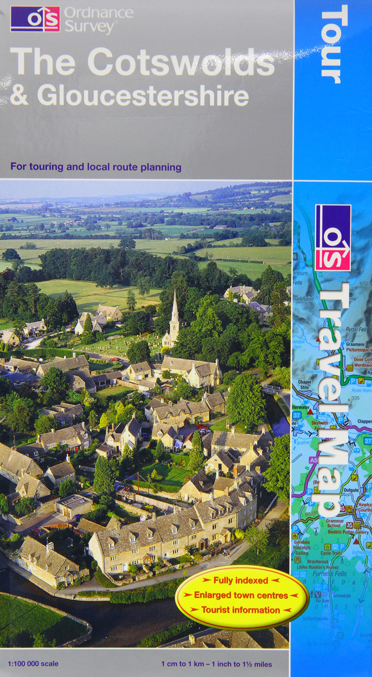 The Cotswolds and Gloucestershire (OS Travel Map - Tour Map)