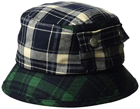 6ecff2f8ee8342 Kangol Men's Plaid Bucket HAT, Navy, S: Amazon.co.uk: Clothing