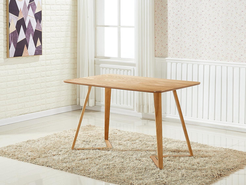 P/&N Homewares/® Halo Table de salle /à manger ronde contemporaine pieds en bois massif