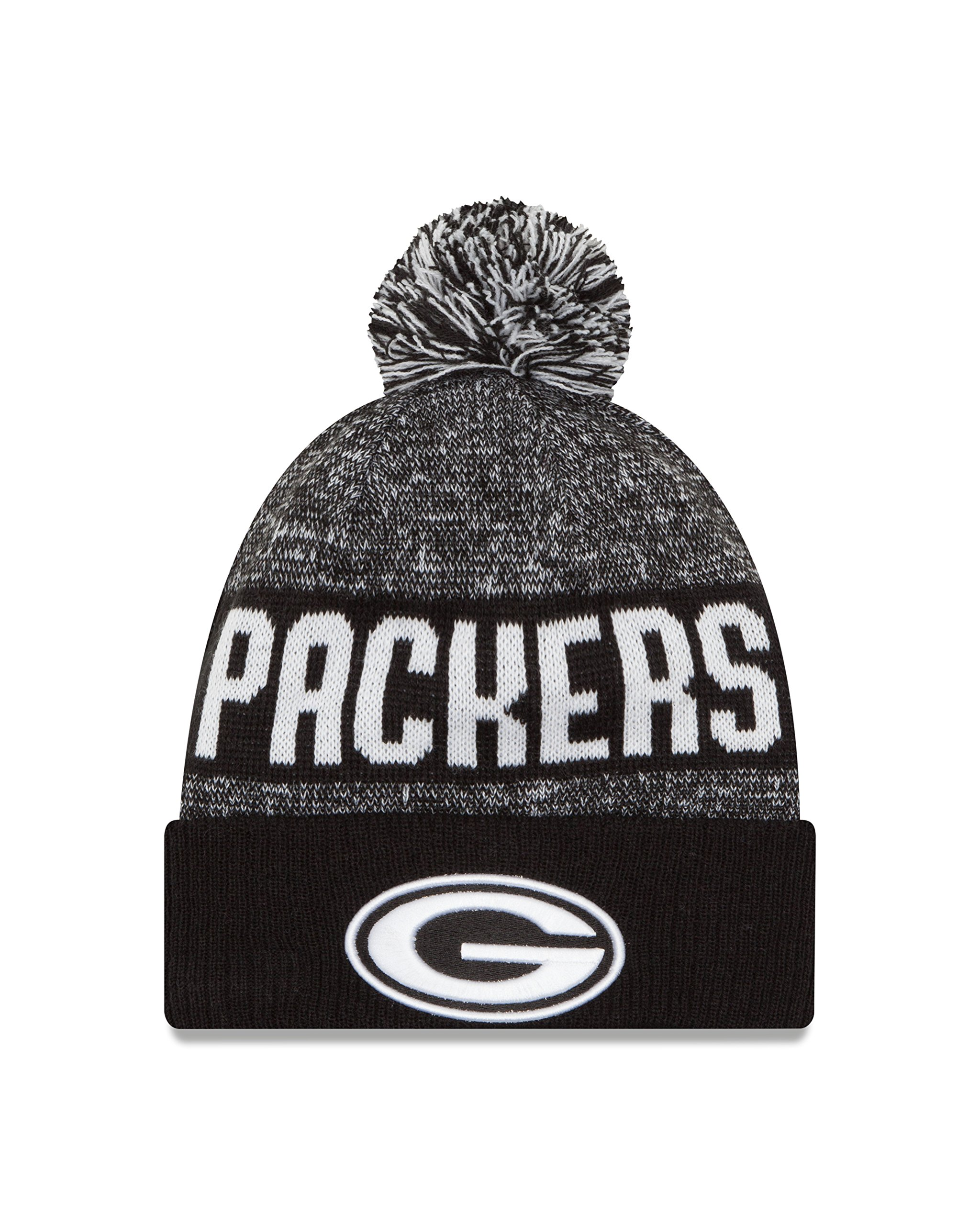 NFL Green Bay Packers 2016 Sport Knit Beanie, One Size, Black/White