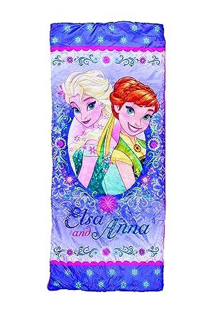 Disney Frozen (El Reino de Hielo) Anna y Elsa niños saco de dormir: Amazon.es: Deportes y aire libre
