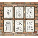 Thomas Edison Patent Inventions Set Of 6 by QuantumPrints on Etsy