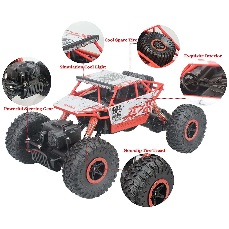 2 4g rock crawler rc car 1 18 off road vehicle 4 wheel
