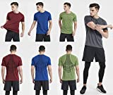 Akilex Mens Running Dry Fit T-Shirt Athletic