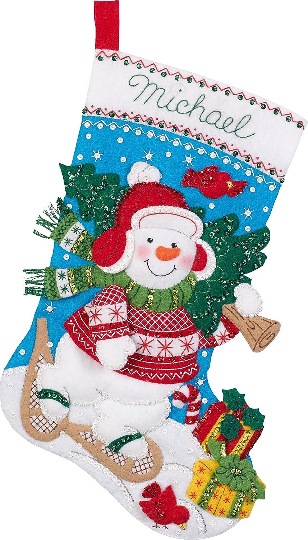Amazon.com: Bucilla 86817 Nordic Snowman Stocking Kit