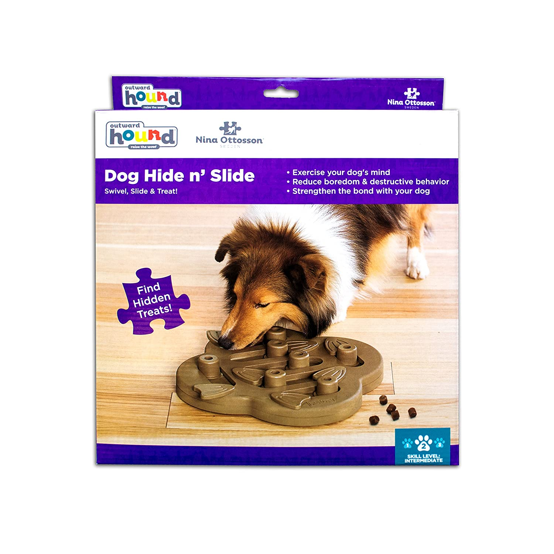 Pet Supplies Hide N Slide Treat Dispensing Dog Toy Brain and