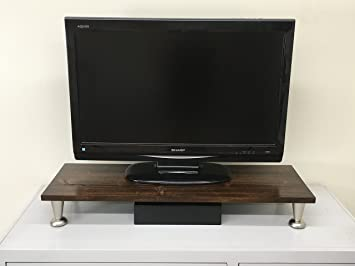 Amazoncom Ideas To Home Rustic Cottonwood Tv Riser Lcd Led Tv