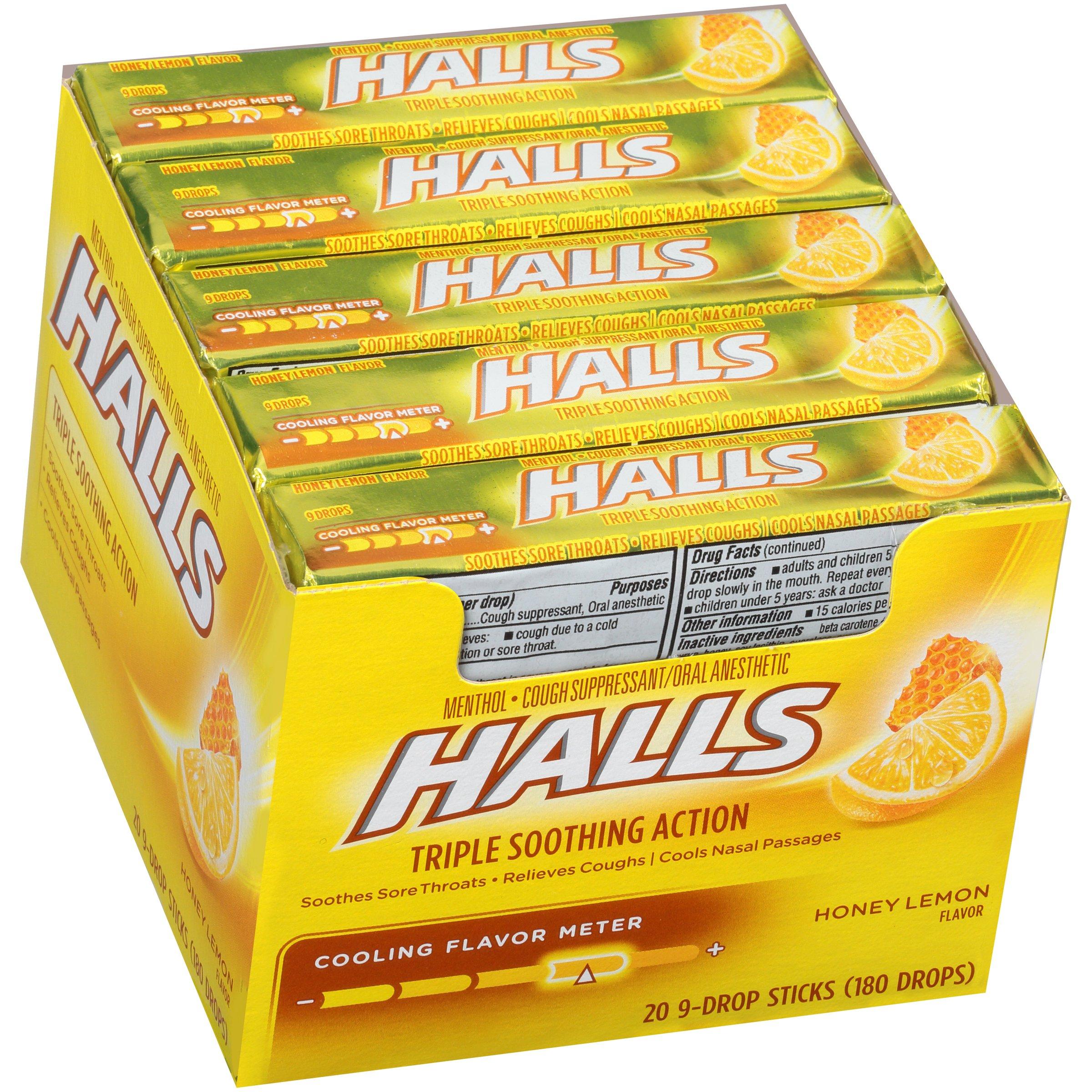 Amazon.com : Halls Extra Strength Intense Cool Cough Drops ...