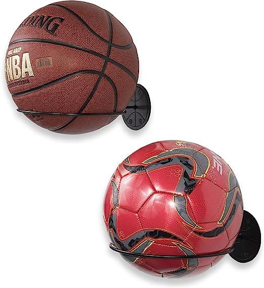 LPOQW Wall-Mounted Ball Lockers Racks Ring Ball Holders Display Racks for Basketball Soccer Football Volleyball Exercise Ball Rack Supplies