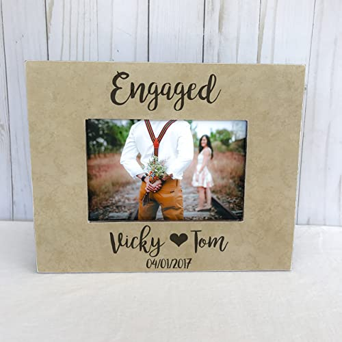 engagement frame engagement party gift she said yes picture frame fianc gift proposal picture frame engagement - Engagement Frame
