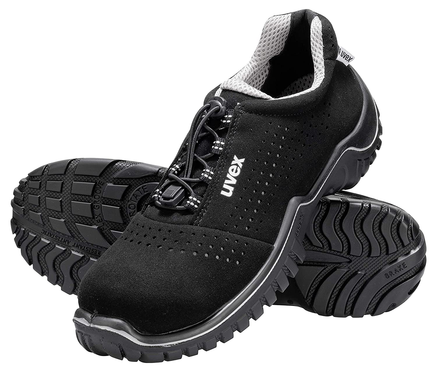 b9f57ccd5f8 Uvex Motion Style S1 SRC Safety Work Trainer - Sporty Steel Toe Cap Shoes,  36 EU Black