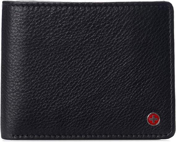 Men-039-s-Alpine-Swiss-RFID-Blocking-Leather-Bifold-Wallet-Commuter-Xmas-Gift-B