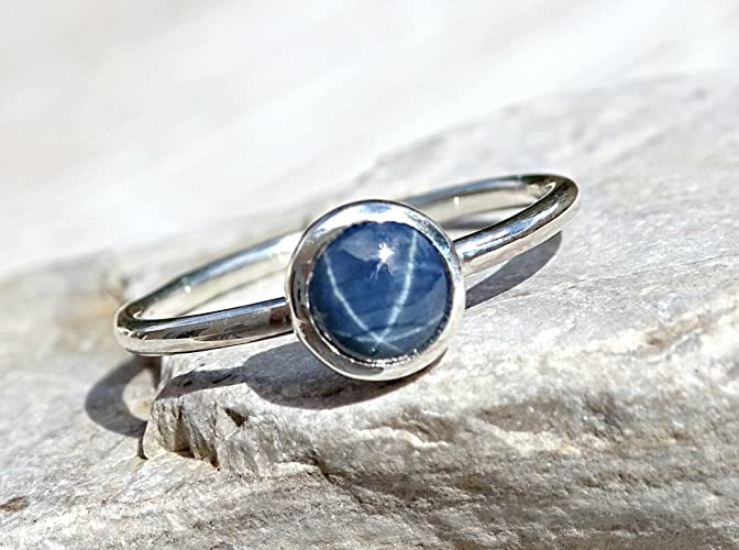 Preferred Amazon.com: star sapphire engagement ring, delicate sapphire ring  DO11