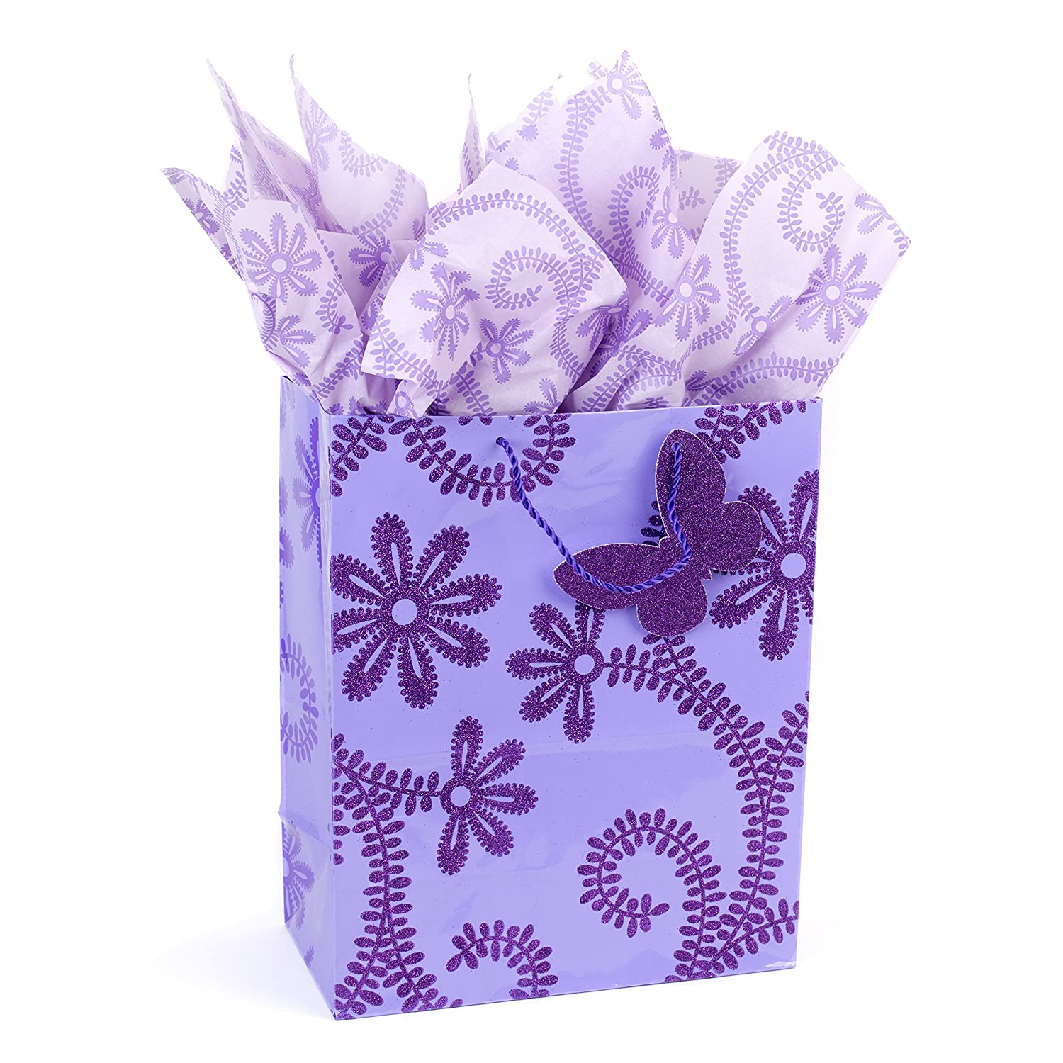 Amazon Hallmark Large Gift Bag With Tissue Paper Lavender
