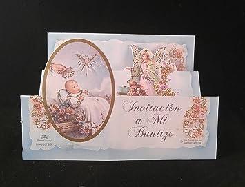 mi bautizo celebracion hermosas invitaciones azules para nionia my baptism invitation cards