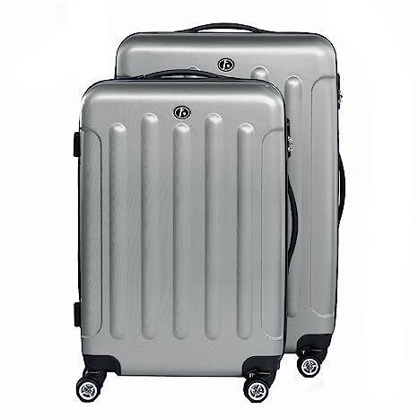 FERGÉ juego de 2 maletas rigidas de viaje LYON maleta cabina 55 cm Equipaje 2 piezas