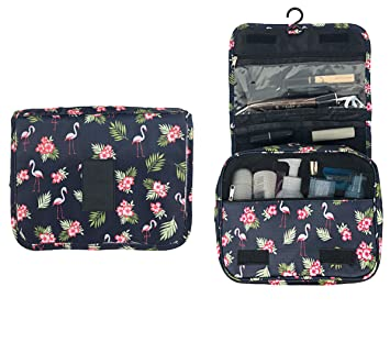 7d1c0b577fbe Hanging Travel Toiletry Bag Cosmetic Bag Waterproof Makeup Storage  Organizer for Women Girls,...
