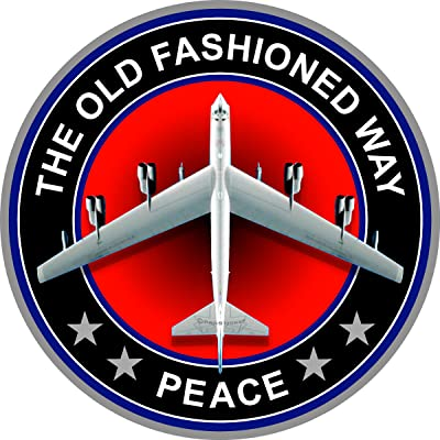 """ProSticker 215 (One) 4"""" Patriot Series The Old Fashion Way, Peace B-52 Bomber Plane Decal Sticker: Automotive"""