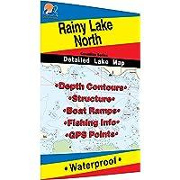 Rainy - North Fishing Map, Lake (Includes Redgut Bay Fishing Map, Manitou Sound Fishing Map, Northeast and Northwest…