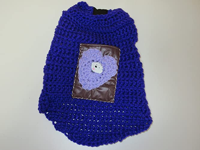 Amazoncom Crochet Dog Sweater Handmade
