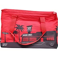 Trader Joe's Large Reusable Insulated Bag, Red/Black