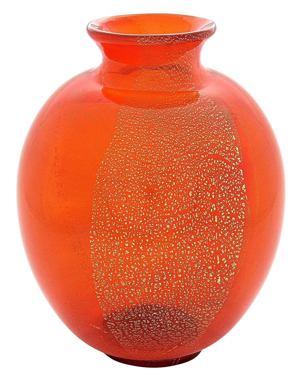 Vaso Tondo ORO Vase Murano Glas Blattgold 24K Made in  Venedig Handarbeit