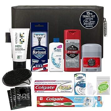 Featuring Convenience Kits International Mens Premium 15 Piece Travel Kit Barbasol Ultra 3 Disposable Razor