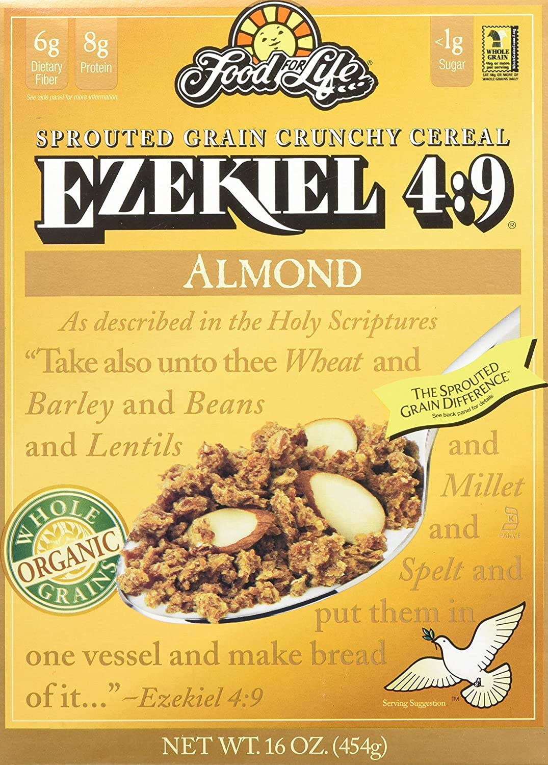 Ezekiel 4:9 Sprouted Whole Grain Cereal, Almond, 16 Ounce (Pack of ...